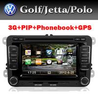 Wholesale car dvd G Car Radio FM AM USB for VW Leon Golf Passat Jetta Tiguan Seat With G GPS Bluetooth TV Radio PIP USB SD IPOD