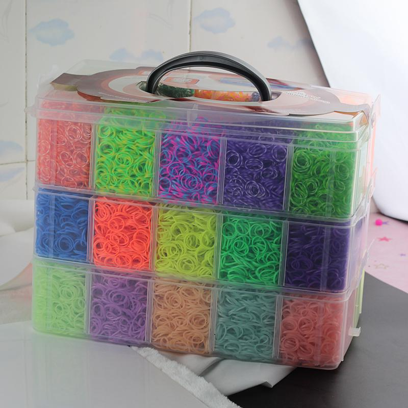 High Quality Rubber Loom Band Kit Kids Diy Bracelet