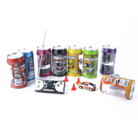 Wholesale 8Colors MINI Coke Can Mini RC Radio Remote Control Micro Racing Car Vehicles Toy Drop Shipping
