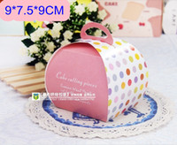 Wholesale Wholesae Lovely Cupcake Paper Box And Packaging For Wedding Festival Party cm