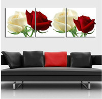 Abstract handpainted abstract 3 Pieces Free Shipping Hot Sell Modern Wall oil Painting flower Home Decorative Art Picture Paint on Canvas Prints