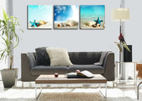 Abstract handpainted abstract The silent sea shells ,3 piece art sets Modern Abstract Oil Painting Canvas Wall Art , Decoration picture print