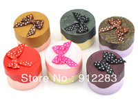 Wholesale Hot Sell Cm Round Icecream Box Mix Color Paper Ring Jewelry Gift Boxes packaging box