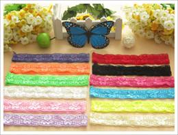 Wholesale 60pcs Rose Overlock hair elastic headband for baby girl hair accessories fold over knit hairband hair ribbon band