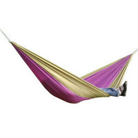 Wholesale Double hammock Portable parachute cloth hammock Double Person Hammock camping outdoor leisure