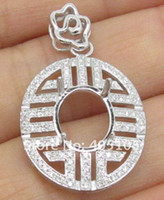 Wholesale Fashion x10mm Oval Natural Diamond Semi Mount Pendant Solid kt Gold Jewelry