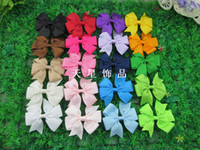 50pcs lot NEW style hair accessorise 20colors baby ribbon bo...
