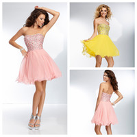 Reference Images Sweetheart Chiffon 2014 Classic Designer Short Beading Crystal Prom Pageant Evening Cocktail Corset Homecoming Dress Graduation Dresses Prom Cocktail dress