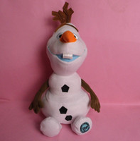 Wholesale 2014 New Arrival Cartoon Movie Frozen Olaf Plush Toys For Sale cm Cotton Stuffed Dolls