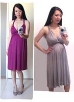 Summer sexy maternity dresses - Spaghetti Straps V neck Competitive Price Sexy Maternity Dress