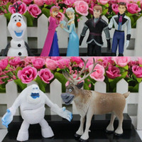 Wholesale New Arrived Frozen PVC action Figure Play Set Anna Elsa Hans Kristoff Sven Olaf kid s gift toy Characters