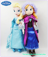 Unisex 5-7 Years Cloth/Rag Wholesale - 50cm Frozen Doll Princess Elsa Anna Plush Doll Toys for Children Baby Kids Toys Action Figures Frozen Plush Toys Boneca Frozen