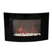 Wholesale XL Large quot x22 quot W Adjustable Heater Electric Wall Mount Fireplace LED Flame