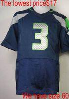 Football Unisex Short Cheap #3 Quarterback Jersey Elite Mens Stitched American Football Jerseys On Field Authentic Jersey High Quality Sportswear