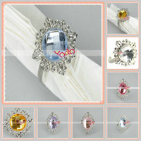 Wedding Other Holiday Supplies Guangdong China (Mainland) Free Shipping,Gem Crystal Napkin Rings Wedding Bridal Shower,Weeding Decoration Favor 6Colors,Silver +,200Pcs Lot-13007196