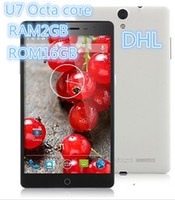 """WCDMA Octa Core Android 7.0"""" IPS FHD Ulefone U7 MTK6592 Octa Core 1.7GHz 2GB RAM 16GB ROM Phablet Android 4.2 3G GPS Mobile Phone Tablet Pc OTG PC PHONE"""