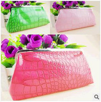 Wholesale Evening Party Bag Cosmetic Bags makeup bags Blasting with hand bag fashion multi functional cosmetic bag female bag make up kit