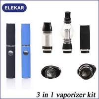 350mAh Non-Adjustable Black wax vaporizer Tank Set Dry Herb Vaporizer Clearomizer Atomizer with Retail Box Two Extra Coil Heads for E-Cig eGo Electronic Cigarette