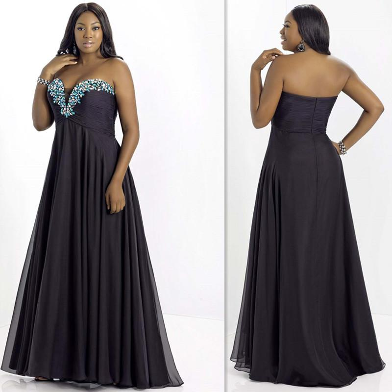 Designer plus size evening dresses