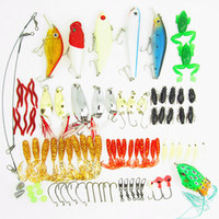 Wholesale Fishing Lure Set Soft Lures Hard Bait Carp hooks Rapala wobblers Artificial wobbler Luminous Minnow Popper Spoon Wire Bai Grub