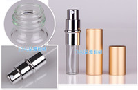 Metal aluminum spray bottle - Portable Perfume Bottle Refillable Aluminum spray bottles perfume atomizer Cosmetic Containers ml Environmental perfume bottles