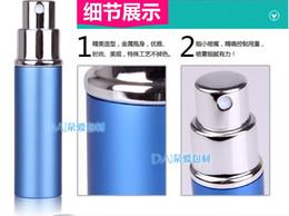 Wholesale 6ML Metal Aluminum Empty glass perfume bottle travel bottles perfume atomizers spray Refillable Perfume Bottle Colours