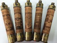 achat en gros de x feu e cig-Free DHL E Fire X Cigare de sapin Bois E Cig VV Mod E Fire Vaporisateur Pen Wood Spinner Batterie Vision Spinner E-Fire pour eGo E Cigarette