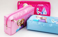 Wholesale FROZEN snow treasure dolls snow adventure cartoon double put pen bag school supplies school supplies gifts studies