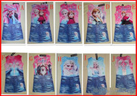 TuTu Summer Pleated 2014 New 10pcs girls frozen denim skirt summer girl dress 10 style Costume Princess Elsa Dress from Frozen for Children Free shipping melee