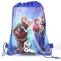 Wholesale New Retail styles frozen drawstring bags Anna Elsa backpacks handbags children school bags kids shopping bags present