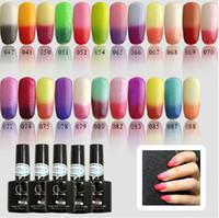 Wholesale Temperature Change Nail art Color Shellac LED UV Gel gelish Nail Polish Gel Soak Off