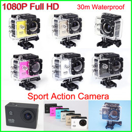 Wholesale New Helmet Sports DV P Full HD H MP Car Recorder Diving Bicycle Action Camera Sports Waterproof Video Camera Camcorder DV SJ4000