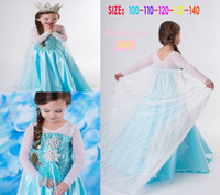 TuTu Summer tutu 2014 Hot sales Elsa Dress Movie Cosplay Dress Summer Elsa Girl Dress Frozen Princess Elsa Costume for Children