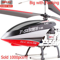 Halloween 40*8*19CM half year Wholesale - Big Helicopter, MJX T55 Super large remote control model, t-55 64cm 2.4HZ, like T23 T40,Power battery, Free Shipping