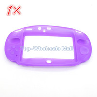 Wholesale New Arrival Top Quality silicon protective case for PS VITA colors Blue purple green pink white