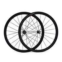 Wholesale 700C mm width carbon fibre mm clincher road bike wheelset
