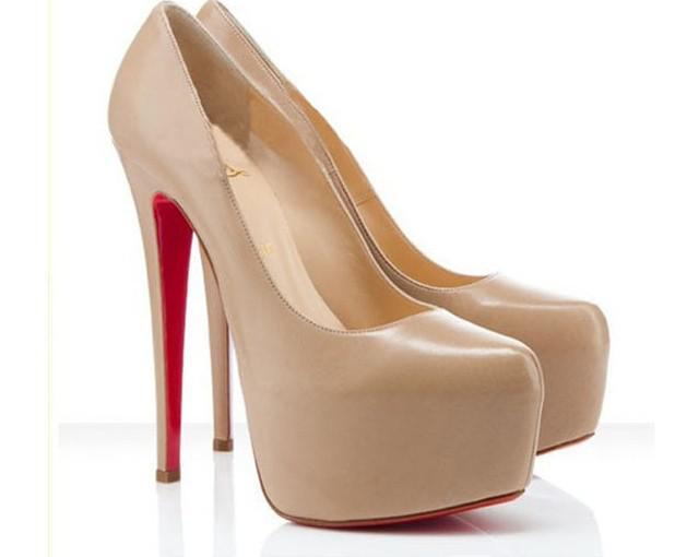 Fashion Star Nude Color Heels Thin Sexy Ultra High Heels Line 14cm ...