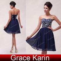 Hot Sexy Strapless Mini Short Navy Blue Homecoming Dresses S...