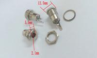 Wholesale 5 mm x mm DC Power Jack Socket Female Panel Mount Connector plug Copper