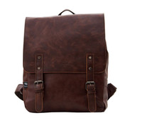Cheap Black PU Leather Backpack School Bag Cute For School Handbag Men Hot Satchel Bags Cover Magnetic Hasp New 2014