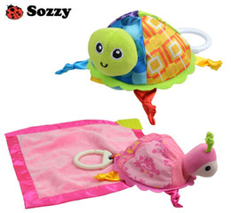 Wholesale Sozzy baby toys blanket teether paper Turtle toy bibs pieces per set hot sale