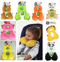 Wholesale Benbat baby safety car pillow headrest children travel seat cushion neck care pillow cute animal years