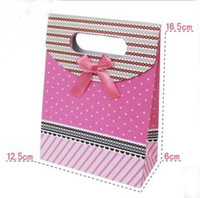 Other Jewelry Packaging & Display Yes EMS Free Shipping S size 120pcs Lot Pink Color Gift Bag Paper Pouch Wedding Party Birthday Festivel Favor Small Paper bags
