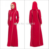 fashion in turkey - 2014 Fashion New Arrival Red Embroidery Long Sleeve Arabic Muslim Caftan Hijab Evening Dresses Made in Turkey