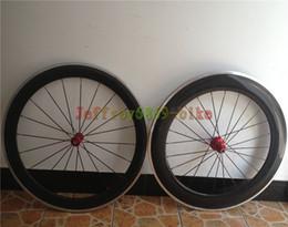 Wholesale 2014 new carbon road bike wheelset hot sale carbon rims with alloy braking surface clincher wheelset c