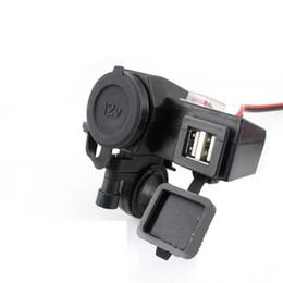Wholesale Motorcycle V USB Cigarette Lighter Power Port Integration Outlet Socket v usb power charge socket electric motorcycle parts