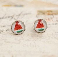 Stud best novelty gift - Novelty Watermelon Stud Earrings Strange Earrings Birthday Gifts for Best Friends mm rd032