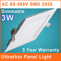 3W Yes LED LED Dimmable Downlight 3W Square Ultrathin SMD 2835 90*90mm 85V~265V Ceiling Lamp Panel Lights Cool Warm White Indoor Lighting IL010