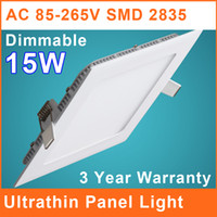 15W Yes LED LED Downlight Recessed LED Lighting 15W Square Dimmable Ultrathin SMD 2835 Ceiling Lamp Panel Lights 85V~265V Indoor Lighting IL015