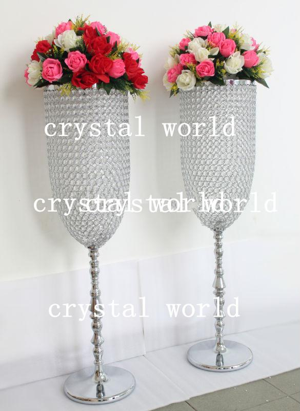 Best Selling Crystal Vaselarge And Tall Flower Vase Centerpiece For Crystal Wedding Favors